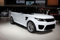Nuovo Land Rover Fotografie Stock
