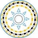 Nuovo logo della stella dello stilista nella forma rotonda Fotografia Stock Libera da Diritti