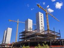 Nuovo luogo della costruzione di edifici Fotografia Stock