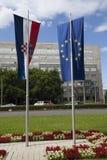 Nuovo membro della Croazia dell'UE Fotografia Stock Libera da Diritti