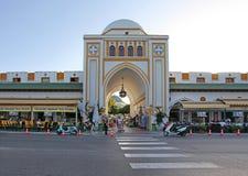 Nuovo mercato della città di Rodi La Grecia Immagine Stock