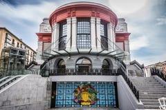 Nuovo mercato di Ribera della La a Bilbao Immagini Stock Libere da Diritti