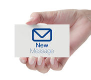 Nuovo messaggio Immagine Stock