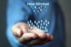 Nuovo mindset-nuovo risultato fotografia stock