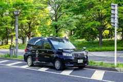 Nuovo modello del taxi giapponese per i giochi olimpici 2020 del comimg Fotografie Stock