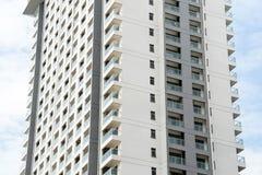 Nuovo modello di esterno della costruzione dell'appartamento del condominio Fotografia Stock
