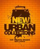 Nuovo modello urbano di disegno delle collezioni. royalty illustrazione gratis