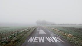 Nuovo modo del segnale stradale fotografia stock