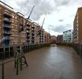 Nuovo molo di Concordia, salvatori bacino, Londra, Regno Unito della st fotografia stock libera da diritti