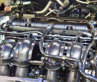 Nuovo motore di automobile Fotografie Stock