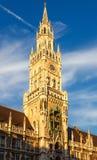 Nuovo municipio di Munchen Fotografia Stock Libera da Diritti