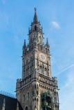Nuovo municipio Marienplatz di Munchen Immagini Stock