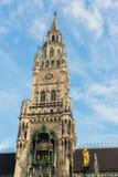 Nuovo municipio Marienplatz di Munchen Fotografia Stock