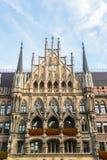 Nuovo municipio Marienplatz di Munchen Immagini Stock Libere da Diritti