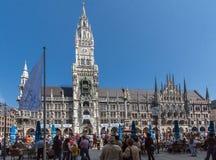 Nuovo municipio Monaco di Baviera Germania Fotografia Stock Libera da Diritti