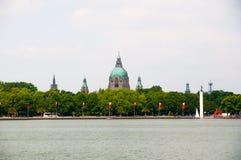 Nuovo municipio o nuovo comune a Hannover Immagine Stock Libera da Diritti
