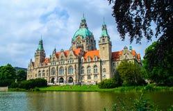 Nuovo municipio o nuovo comune a Hannover Fotografia Stock