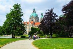 Nuovo municipio o nuovo comune a Hannover Fotografia Stock Libera da Diritti
