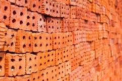 Nuovo muro di mattoni Fotografie Stock