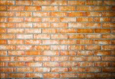 Nuovo muro di mattoni arancio per fondo Fotografie Stock Libere da Diritti