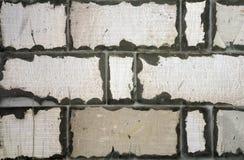 Nuovo muro di mattoni bianco costruito come fondo Fotografie Stock Libere da Diritti
