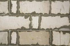 Nuovo muro di mattoni bianco costruito come fondo Fotografie Stock