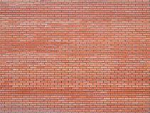 Nuovo muro di mattoni rosso moderno, fondo della muratura, struttura, picchiettio immagine stock
