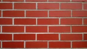 Nuovo muro di mattoni rosso per fondo o struttura Immagini Stock