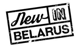 Nuovo nel timbro di gomma della Bielorussia Fotografia Stock