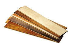 Nuovo parquet della quercia dei colori differenti Fotografia Stock