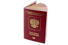Nuovo passaporto biometrico russo per i paesi stranieri fotografia stock libera da diritti