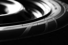 Nuovo pneumatico ausiliario dell'automobile Fotografia Stock
