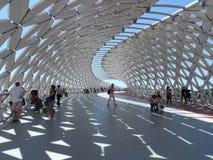 Nuovo ponte a Astana immagine stock libera da diritti