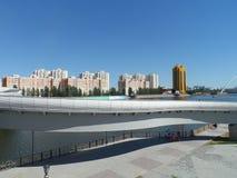 Nuovo ponte a Astana immagini stock