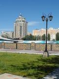 Nuovo ponte a Astana immagini stock libere da diritti