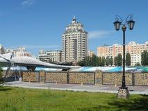 Nuovo ponte a Astana fotografie stock libere da diritti