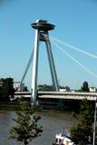 Nuovo ponte a Bratislava (Slovacchia) Immagine Stock Libera da Diritti
