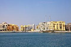 Nuovo porticciolo, EL Gouna, Mar Rosso, Egitto Immagine Stock Libera da Diritti