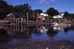 Nuovo porto, Maine alla marea bassa Fotografia Stock