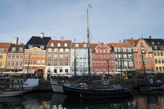 Nuovo porto (Nyhavn) Immagini Stock