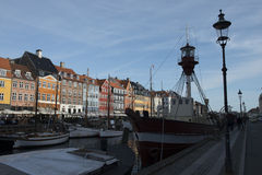 Nuovo porto (Nyhavn) Immagini Stock Libere da Diritti