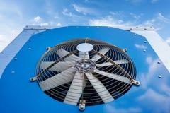 Nuovo primo piano del sistema di condizionamento d'aria Fotografie Stock Libere da Diritti