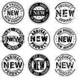 Nuovo prodotto, arrivo, buoni bolli Immagini Stock Libere da Diritti