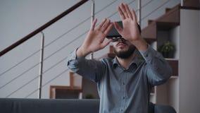 Nuovo progetto virtuale di simulazione per la generazione futura cyber dell'innovazione di gioco e di affari stock footage