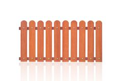 Nuovo pulito di legno del recinto del giardino o del recinto su bianco Fotografie Stock Libere da Diritti