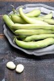 Nuovo raccolto delle verdure sane, grande vasto bea crudo fresco verde fotografia stock libera da diritti