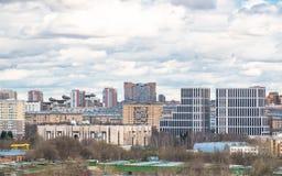 Nuovo residental e distretto aziendale a Mosca Fotografia Stock Libera da Diritti