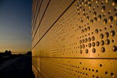 Nuovo reticolo della parete di disegno di opera con l'orizzonte Fotografia Stock