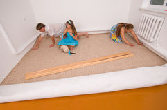Nuovo rivestimento per pavimenti. Fotografia Stock Libera da Diritti