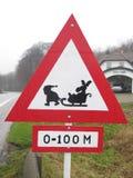 Nuovo segnale stradale danese Fotografia Stock Libera da Diritti